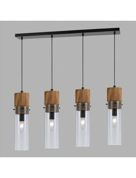 Wood And Glass 4 Light Pendant Lamp by World Market