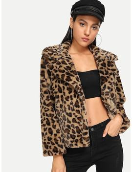 Waterfall Leopard Outerwear by Sheinside