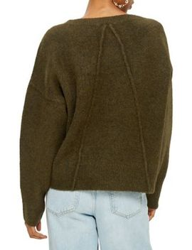 Long Sleeve V Neck Sweater by Topshop