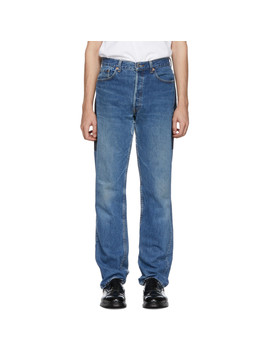 Indigo Patchwork Reverse Jeans by B Sides