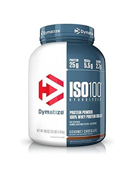 Dymatize Iso 100 Whey Protein Powder Isolate, Gourmet Chocolate, 3 Lbs by Dymatize