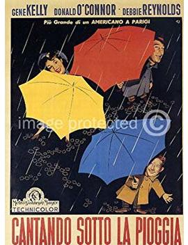 Singin' In The Rain 1952 Vintage Movie Poster Art Italian Version 11x17 by American Gift Services