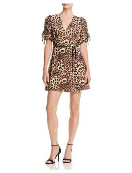 Leopard Print Wrap Dress   100 Percents Exclusive by Aqua