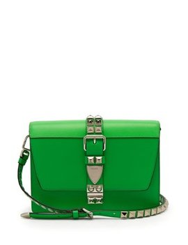Elektra Leather Cross Body Bag by Prada