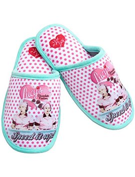I Love Lucy Chocolate Factory Polka Dot Scuff Slippers W/Non Skid Soles by Midsouth Products