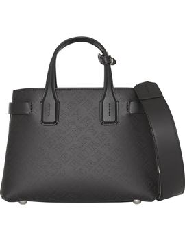 Small Banner Perforated Leather Tote by Burberry