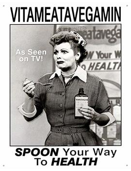 I Love Lucy Vitameatavegamin Tin Sign 13 X 16in by I Love Lucy