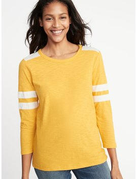 Relaxed Football Style Slub Knit Tee For Women by Old Navy