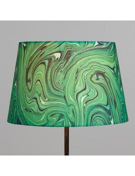 Green Malachite Linen Accent Lamp Shade by World Market