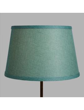 Aqua Linen Accent Lamp Shade by World Market