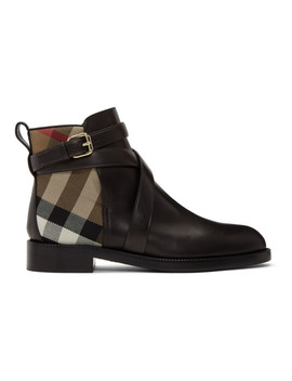 Black Pryle Boots by Burberry
