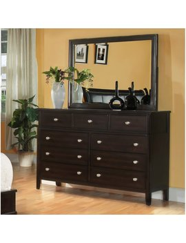 Fairfax Home Collections Newton 9 Drawer Dresser With Mirror by Fairfax Home Collections