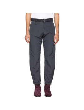 Navy Lined Zip Trousers by Paul Smith