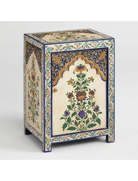 Hand Painted Blue Floral Mughal Cabinet by World Market
