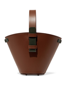 Nelia Mini Two Tone Leather Bucket Bag by Nico Giani