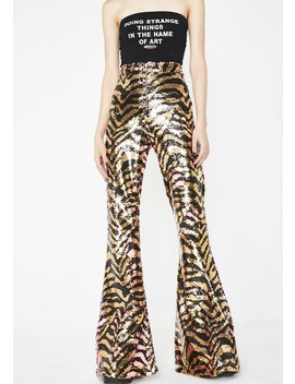 Tina Reverse Sequin Party Flares by Elsie Fred