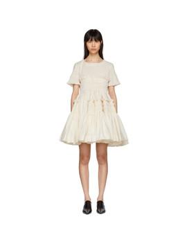 Off White Lynette Dress by Molly Goddard