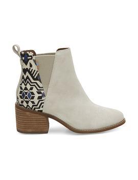 Birch Suede Metallic Jacquard Women's Esme Boots by Toms
