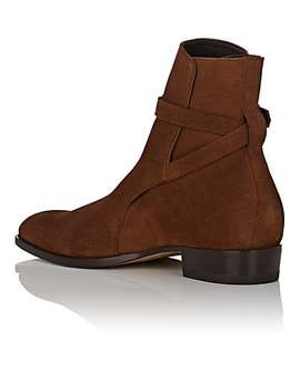 Wyatt Oiled Suede Jodhpur Boots by Saint Laurent
