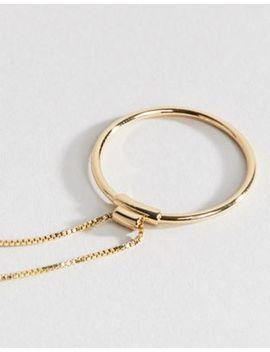 Позолоченное ожерелье Pilgrim by Asos