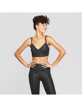 Women's Performance Textured Strappy Back Sports Bra   Joy Lab™ by Joy Lab
