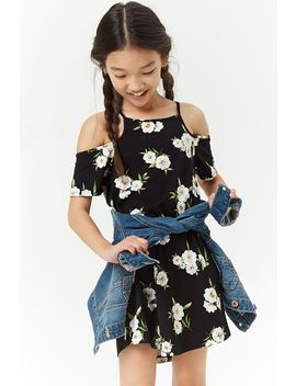 Girls Floral Open Shoulder Dress (Kids) by Forever 21