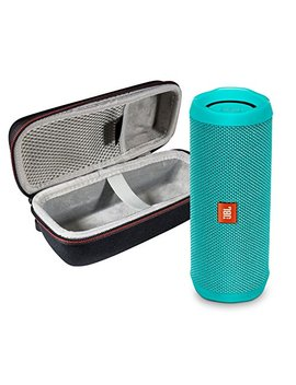 Jbl Flip 4 Portable Bluetooth Wireless Speaker Bundle With Protective Travel Case   Teal by Jbl