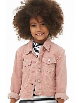 Girls Corduroy Button Front Jacket (Kids) by Forever 21