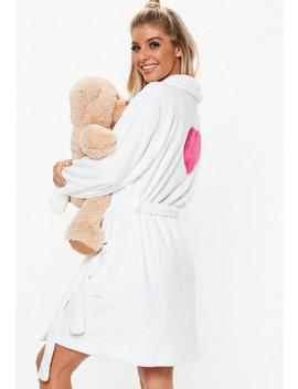 White Heart Dressing Gown by Missguided