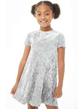 Girls Crushed Velvet T Shirt Dress (Kids) by Forever 21