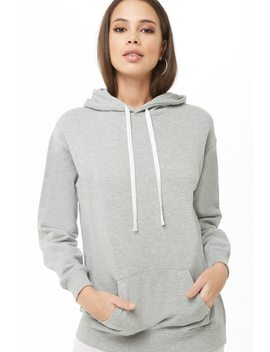 Longline French Terry Hoodie by Forever 21