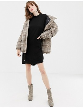 Monki High Neck Smock Dress In Black by Monki