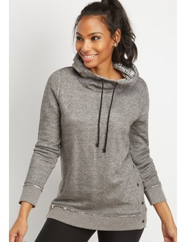 Snap Side Fairisle Hood Pullover by Maurices