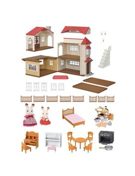 Calico Critters Red Roof Country Home Gift Set by Calico Critters