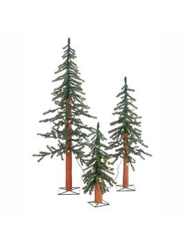 Sterling 3 Piece Pre Lit Artificial Alpine Christmas Tree Set by Kohl's