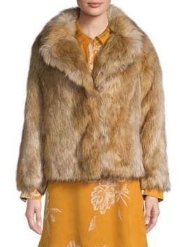 Petite Faux Fur Coat by Topshop