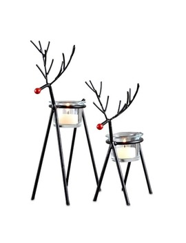 Sam Miguel Christmas Reindeer Votive Candle Holder 2 Piece Set by Kohl's