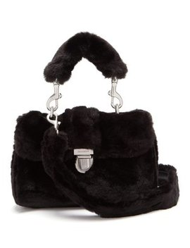 Sullivan Mini Faux Fur Satchel Bag by Shrimps