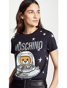 Spaceship Bear Tee by Moschino