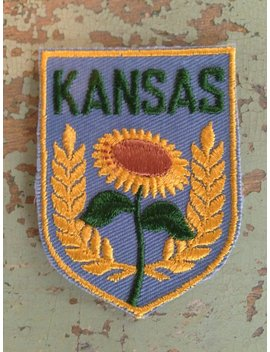 Kansas Vintage Travel Patch By Voyager by Etsy