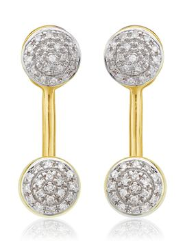 Fiji Diamond Button Ear Jackets by Monica Vinader