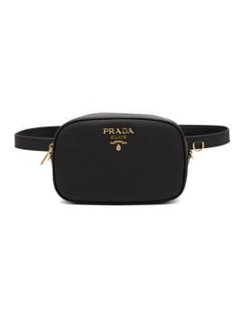 Black Saffiano Leather Belt Bag by Prada