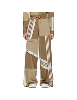 Beige Deconstructed Lounge Pants by Adidas Originals By DaniËlle Cathari