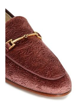 Embellished Jacquard Leather Loafers by Sam Edelman