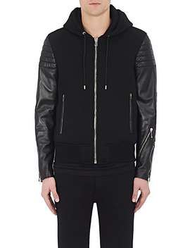 Neoprene & Quilted Leather Hooded Jacket by Givenchy