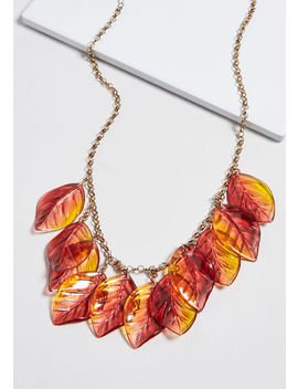 Live Leaf To The Fullest Necklace by Modcloth