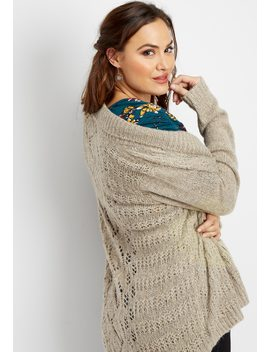 Plus Size Sparkle Open Stitch Cardigan by Maurices