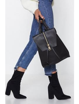 Want Back At You Faux Leather Backpack by Nasty Gal