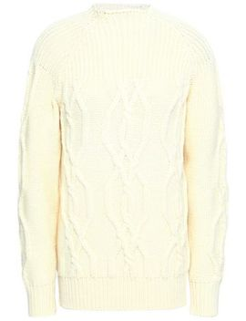 Cable Knit Wool Sweater by Lanvin
