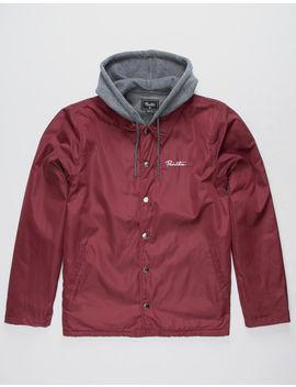 Primitive 2 Fer Burgundy Mens Hooded Jacket by Primitive